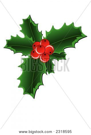 Christmas Holly Border.Eps