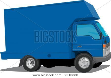 Blue Moving Truck