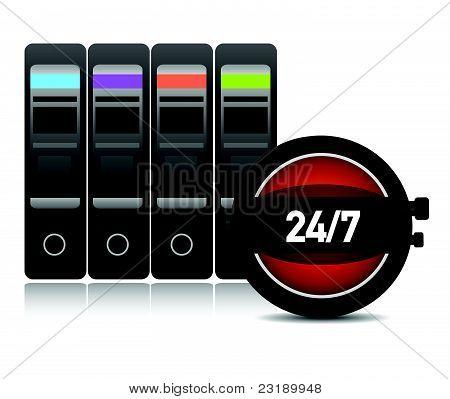 Digital time / server time illustration design