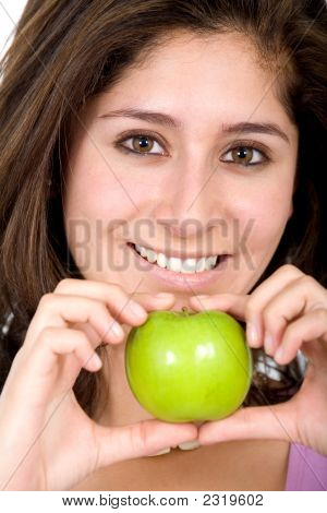 Apple Girl In Green