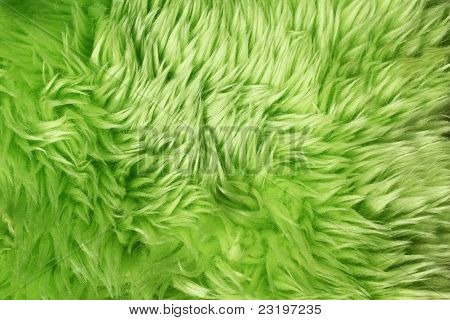 Green Fur Background