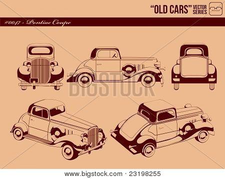 Old Cars #0047 - Pontiac Coupe Car