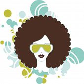 foto of afro hair  - afro woman - JPG