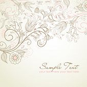 foto of swirly  - Floral greeting card - JPG