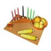 picture of unity candle  - kwanzaa 3d - JPG