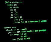Functional Programming Code -  Declarative Paradigm, Lambda Calculus, Green Color poster