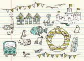 stock photo of campervan  - Summer doodles - JPG