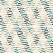 Seamless Pattern With Hatched Diamonds. Argyle Wallpaper. Rhombuses And Lozenges Motif. Repeated Geo poster