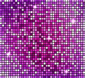 Shining Abstract Pink Mosaic Background. Shiny Mosaic In Disco Ball Style. Vector Silver Disco Light poster