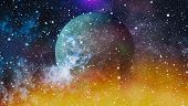 Nebula And Galaxies In Space.planet And Galaxy - Elements Of This Image Furnished By Nasa poster