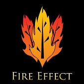 Fire Effects.vector Swirl Trail Effect With Special Light Effect poster