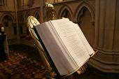 Open Bible In Church