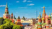 Panoramic View Of The Red Square In Moscow, Russia poster