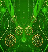 Green Holiday Festive Pattern