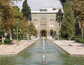 picture of tehran  - Ornamental lake and gardens in front of the Golestan Palace  - JPG