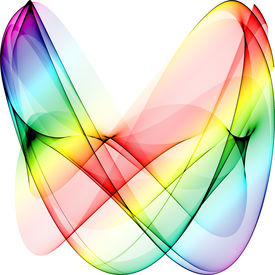 pic of gay pride  - abstract rainbow curves on white excellenct gay pride symbol - JPG