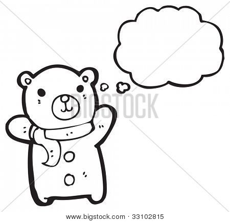 cartoon cute little teddy bear