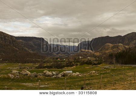Rural Grasslands In Norway