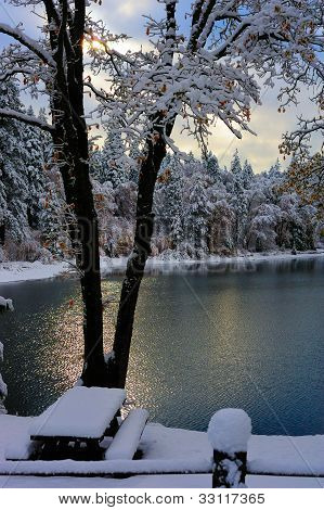 Scenic Winter Lake