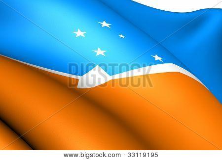 Tierra Del Fuego Flag, Argentina.