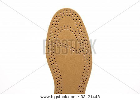 Comfortable insole with leather
