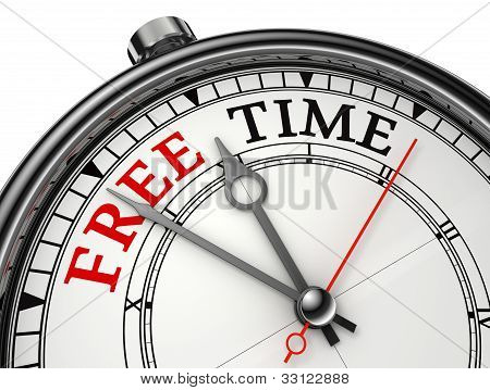 Free Time Concept Clock
