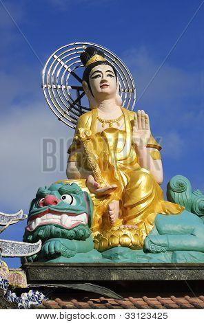 Statue Of Buddha At Chua Linh Phuoc Pagoda (dalat, Vietnam)