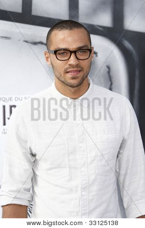 LOS ANGELES - SEPT 25: Jesse Williams  at the IRIS, A Journey Through the World of Cinema by Cirque du Soleil premiere at the Kodak Theater on September 25, 2011  in Los Angeles, California