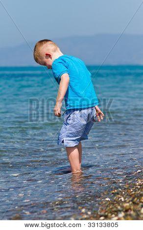 Little Boy Enjoying His Holiday