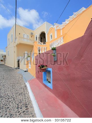 Street In Santorini, Greece