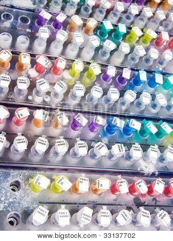 Tubos de ensaio colorido