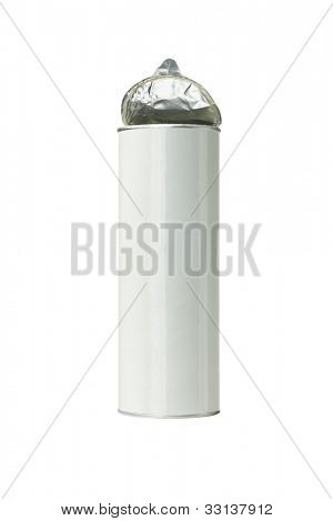 Open Potato Chips Snack Container on White Background