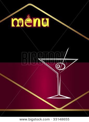 Bar Menu Design Template