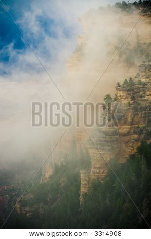 Grand Canyon In The Fog