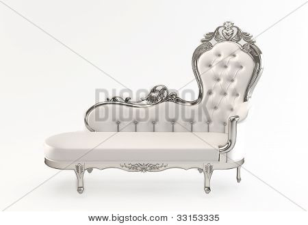 Leather Luxurious With Royal Curve Frame Isolated White Background