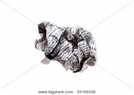 Newspaper Ball