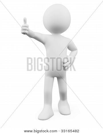 3D Man - Thumb Up