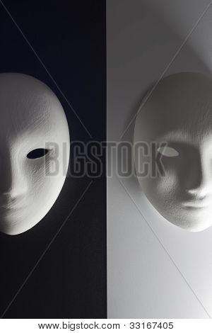 Plaster Mask In Studio