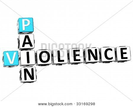 3D Pain Violence Crossword