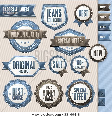Collection of vector badges and labels