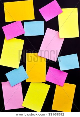 Post It On Black Board