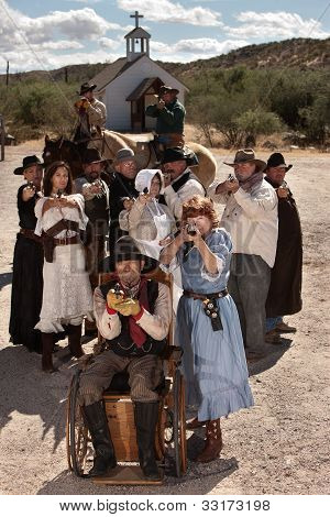 Elderly Gunfighters In Old Town
