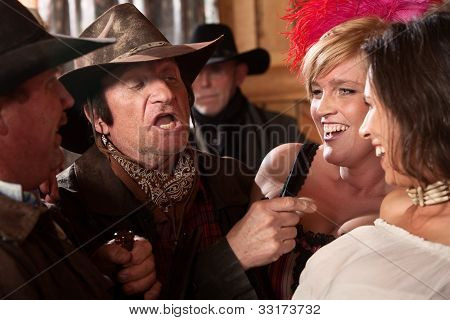 Cowboys Joking With Pretty Women