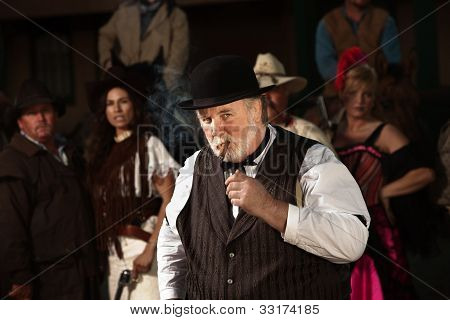 Doubtful Old West Man
