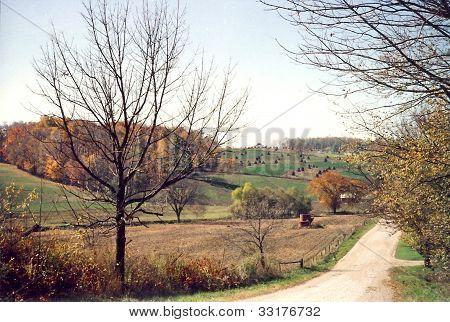 Terra de fazenda Amish