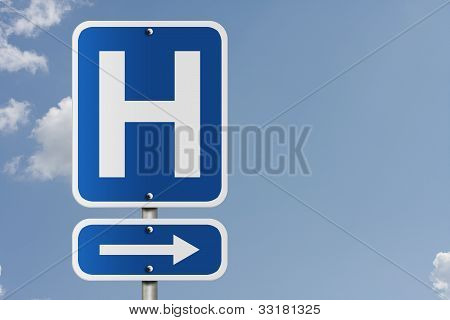 Hospital Direction Sign