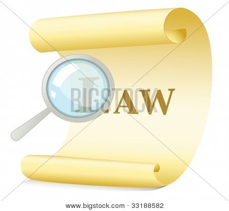 Illustration of a law search concept