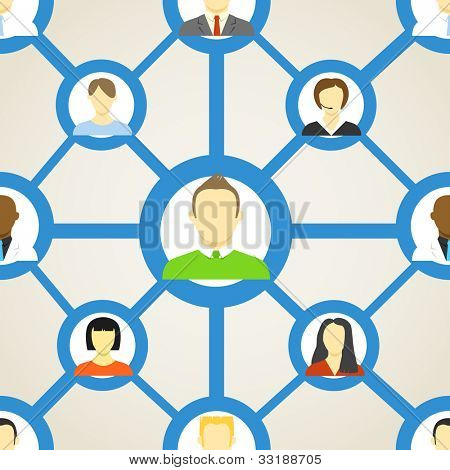 Seamless background of people on social network