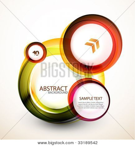 Abstract orange web banner made of circles