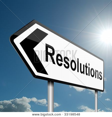 Resolutions Concept.